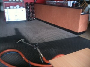 Grease and Oil Cleaning off the Carpets in a Restaurant in Canberra
